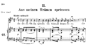 Aus meinen Trânen spriessen Op.48 No.2, Medium Voice in G Major, R. Schumann (Dichterliebe), C.F. Peters | eBooks | Sheet Music