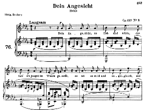 Dein Angesicht Op.127 No.2, Medium Voice in D Flat Major, R. Schumann, C.F. Peters | eBooks | Sheet Music