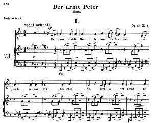 Der arme Peter I, Op.53 No.3, Medium Voice in F Major, R. Schumann, C.F.Peters | eBooks | Sheet Music