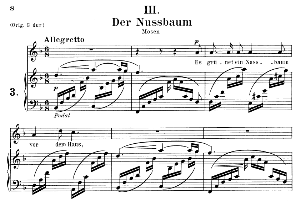 Der Nussbaum Op.25 No.3, Medium Voice in F Major, R. Schumann (Myrten), C.F. Peters | eBooks | Sheet Music