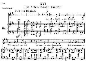 Die alten, bösen Lieder Op.48 No.16, Medium Voice in B minor, R. Schumann (Dichterliebe), C.F. Peters | eBooks | Sheet Music