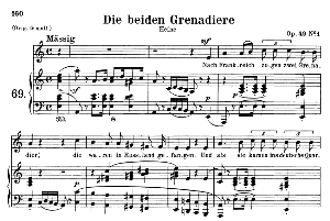 Die beiden Grenadiere Op 49 No.1, Medium Voice in A minor, R. Schumann, C.F. Peters | eBooks | Sheet Music