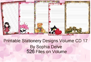 printable stationary designs vol 17 made by sophia delve