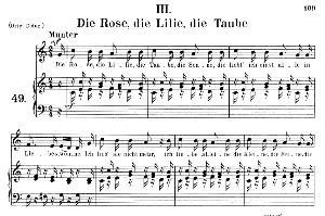 Die Rose die Lilie die Taube Op.48 No.3, Medium Voice in C Major, R. Schumann (Dichterliebe), C.F. Peters | eBooks | Sheet Music