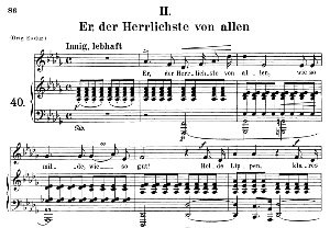 Er der Herrlichste von allen Op 42 No. 2, Medium Voice in D Flat Major, R. Schumann, C.F. Peters | eBooks | Sheet Music