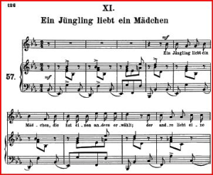 Ein Jüngling liebt ein Mädchen Op.48 No.11, Medium Voice in E Flat Major, R. Schumann (Dichterliebe). C.F. Peters | eBooks | Sheet Music