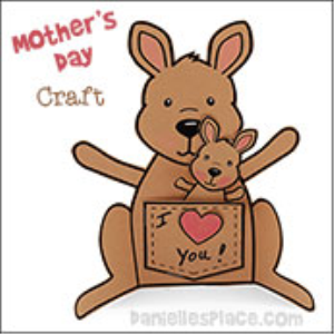 kangaroo mother's day card