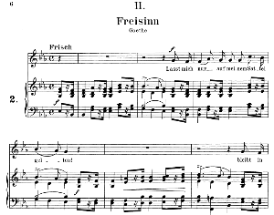 Freisinn Op. 25 No.2, Medium Voice in E Flat Major, R. Schumann, C.F. Peters | eBooks | Sheet Music