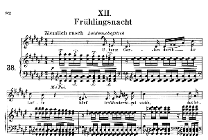 Frühlingsnacht Op.39 No.12, Medium Voice in F Sharp Major, R. Schumann (Liederkreis), C.F. Peters | eBooks | Sheet Music