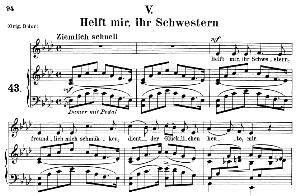 Helft mir, ihr Schwestern Op. 42 No.5, Medium Voice in A Flat Major, R. Schumann (Frauenliebe und-leben). C.F. Peters | eBooks | Sheet Music