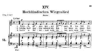 Hochländisches Wiegenlied Op.25 No.14, Medium Voice in C Major, R. Schumann, C.F. Peters | eBooks | Sheet Music
