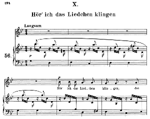 Hör' ich das Liedchen klingeln Op 48 No.10, Medium Voice in G minor, R. Schumann (Dichterliebe), C.F. Peters | eBooks | Sheet Music