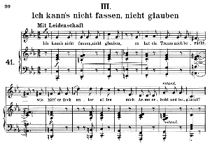 Ich kann's nicht fassen, Op.42 No.3, Medium Voice in C Minor, R. Schumann (Frauenliebe und-leben). C.F. Peters | eBooks | Sheet Music