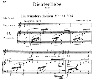 Im wunderschönen Monat Mai Op.48 No.1, Medium Voice in E Minor, R. Schumann (Dichterliebe). C.F. Peters | eBooks | Sheet Music