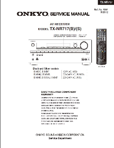 onkyo tx-nr717 receiver original service manual download
