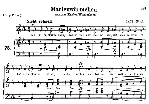 Marienwürmchen Op 79 No.14, Medium Voice in E Flat Major, R. Schumann, C.F. Peters | eBooks | Sheet Music