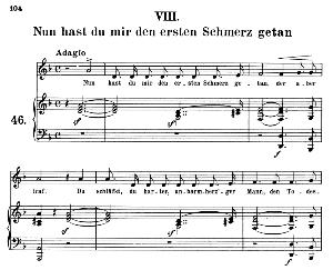 Nun hast du mir den ersten schmerz getan, Op.42 No.8, Medium Voice in D minor, R. Schumann (Frauenliebe und-leben), C.F. Peters | eBooks | Sheet Music