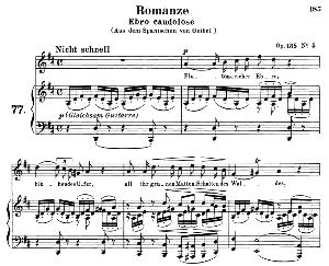 Romanze ebro caudolose Op.138 No.5, Medium Voice in D Major (Original Key), R. Schumann. C.F. Peters | eBooks | Sheet Music