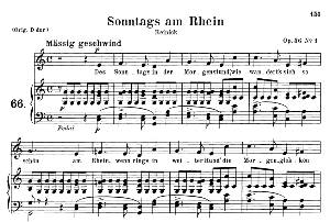 Sonntags am Rhein Op.36 No.1, Medium Voice in C Major, R. Schumann, C.F. Peters | eBooks | Sheet Music