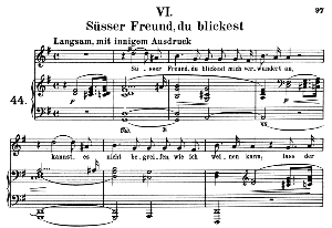Süsser Freund, du blickest Op. 42 No.6, Medium Voice in G Major (Original Key), R. Schumann (Frauenliebe und-leben), C.F. Peters | eBooks | Sheet Music