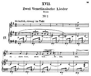 Venetianisches Lied I Op.25 No.17, Medium Voice in G Major (Original Key), R. Schumann (Myrten). C.F. Peters | eBooks | Sheet Music