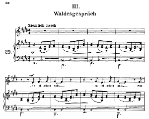 Waldesgeschpräch Op.39 No.3, Medium Voice in E Major (Original Key), R. Schumann (Liederkreis), C.F. Peters | eBooks | Sheet Music