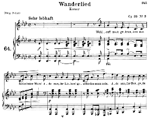 Wanderlied Op.35 No.3, Medium Voice in A Flat Major, R. Schumann, C.F. Peters | eBooks | Sheet Music