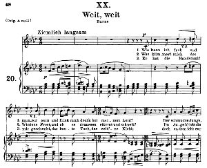 Weit, weit Op.25 No.20, Medium Voice in F Minor, R. Schumann | eBooks | Sheet Music