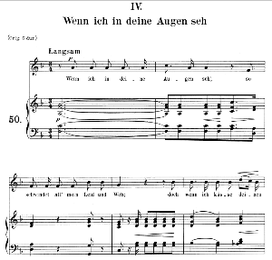 Wenn ich in deine Augen seh Op. 48 No.4, Medium Voice in F Major, R. Schumann (Dichterliebe), C.F. Peters | eBooks | Sheet Music