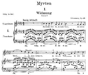 Widmung Op.25 No.1, Medium Voice in G Flat Minor, R. Schumann (Myrten) | eBooks | Sheet Music