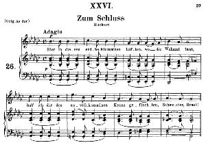 Zum schluss Op.25 No.26, Medium Voice in G Flat Major, R. Schumann (Myrten) | eBooks | Sheet Music
