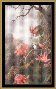 humming bird & passion flower