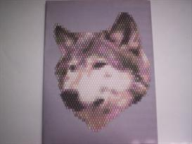 Brick Stitch Wolf Delica Seed Beading Pendant Pattern | Other Files | Arts and Crafts