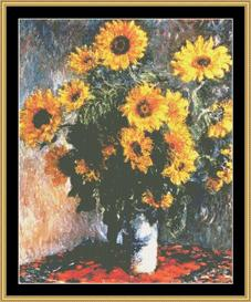 Sunflower - Monet | Crafting | Cross-Stitch | Wall Hangings