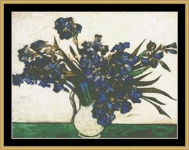 Blue Irises - Van Gogh | Crafting | Cross-Stitch | Wall Hangings