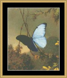 Butterfly - Heade | Crafting | Cross-Stitch | Wall Hangings