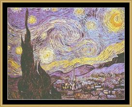 The Starry Night - Van Gogh | Crafting | Cross-Stitch | Wall Hangings