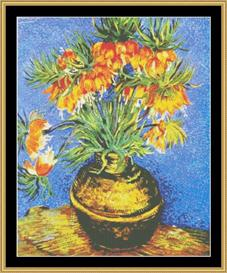 Crown Fritillaria In Copper - Van Gogh | Crafting | Cross-Stitch | Wall Hangings