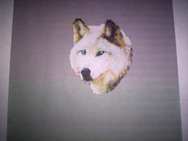Brick Stitch Arctic/White Wolf Delica Seed Beading Pendant Pattern | Other Files | Arts and Crafts