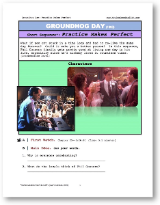 groundhog day, practice makes perfect, short-sequence english (esl) lesson