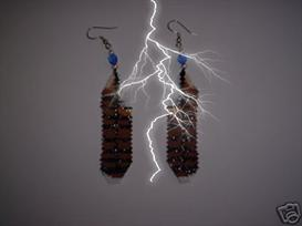 Brick Stitch Hawk Feather Delica Seed Beading Earring Pattern | Other Files | Arts and Crafts
