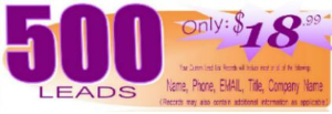 500 healthcare leads - only $18.99