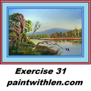 31paint a river in oils or acrylic.