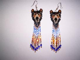 Brick Stitch Black Bear Delica Seed Beading Earring Pattern | Other Files | Arts and Crafts
