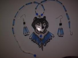 Brick Stitch Wolf Delica Seed Beading Earring Pattern | Other Files | Arts and Crafts