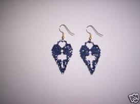 Brick Stitch Cross In Heart Delica Seed Beading Earring Pattern | Other Files | Arts and Crafts