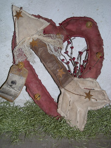 506 primitive valentine heart & arrow door hanger pattern