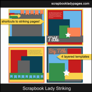 scrapbook lady striking templates