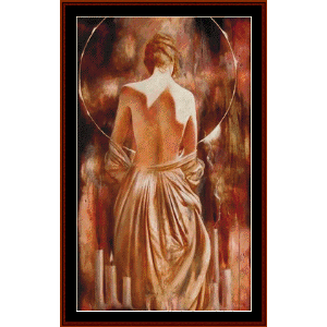 secret sanctuary - cross stitch pattern by cross stitch collectibles