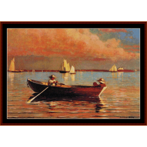 Gloucester Harbor - W. Homer cross stitch pattern by Cross Stitch Collectibles | Crafting | Cross-Stitch | Wall Hangings